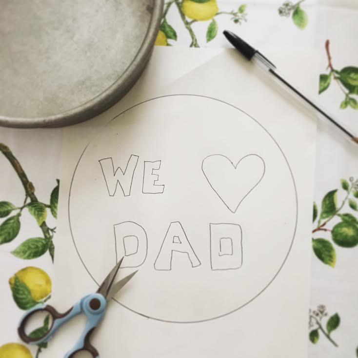 stencil of we love dad