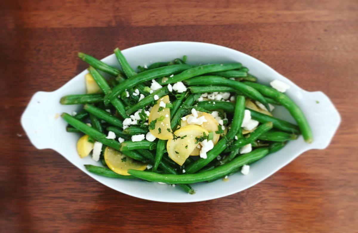Green Bean Yellow Squash Side Dish
