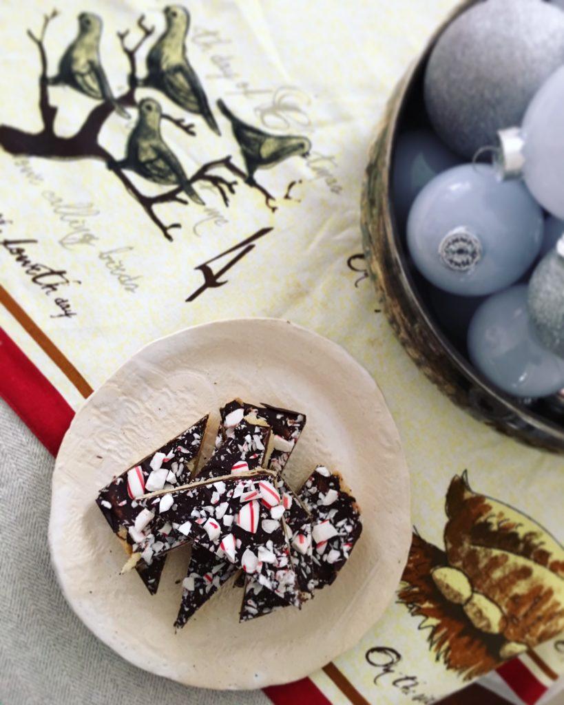 Peppermint Chocolate Shortbread
