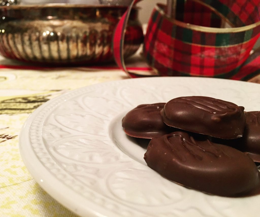 plate of peppermint patties