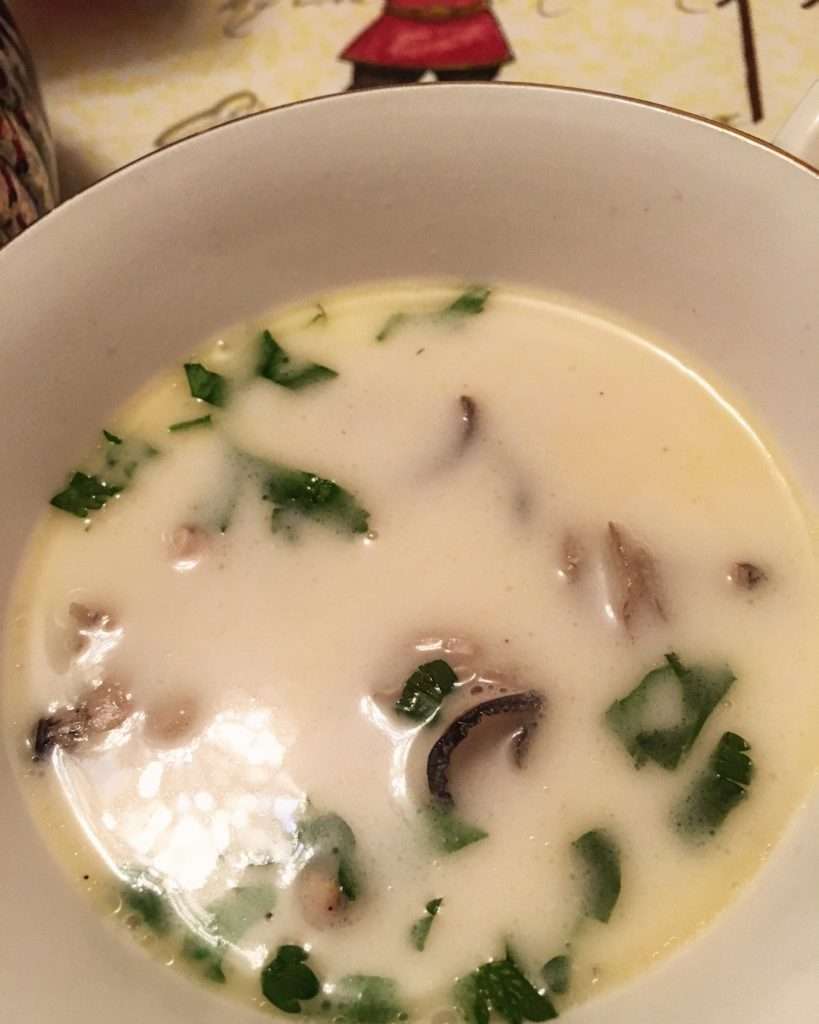 oyster stew closeup