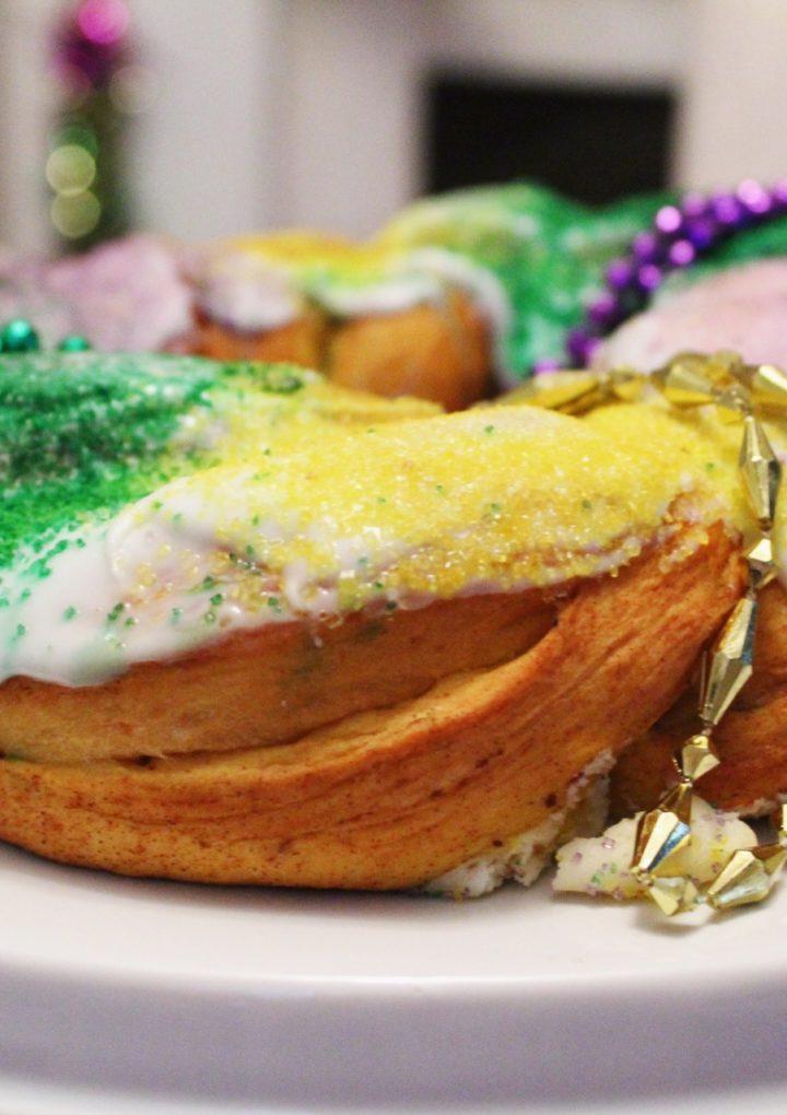 Homemade Cream Cheese Pecan Praline King Cake