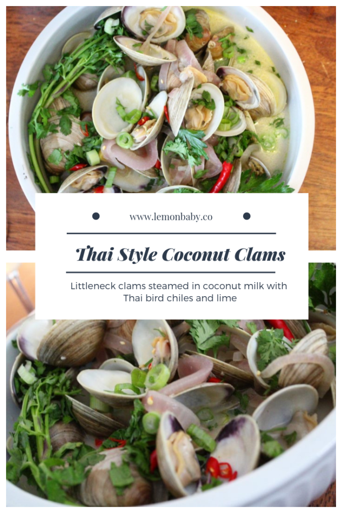 Pinterest Pin Coconut Clams