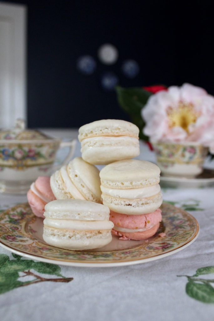 Vanilla Bean French Macarons with Earl Grey Buttercream