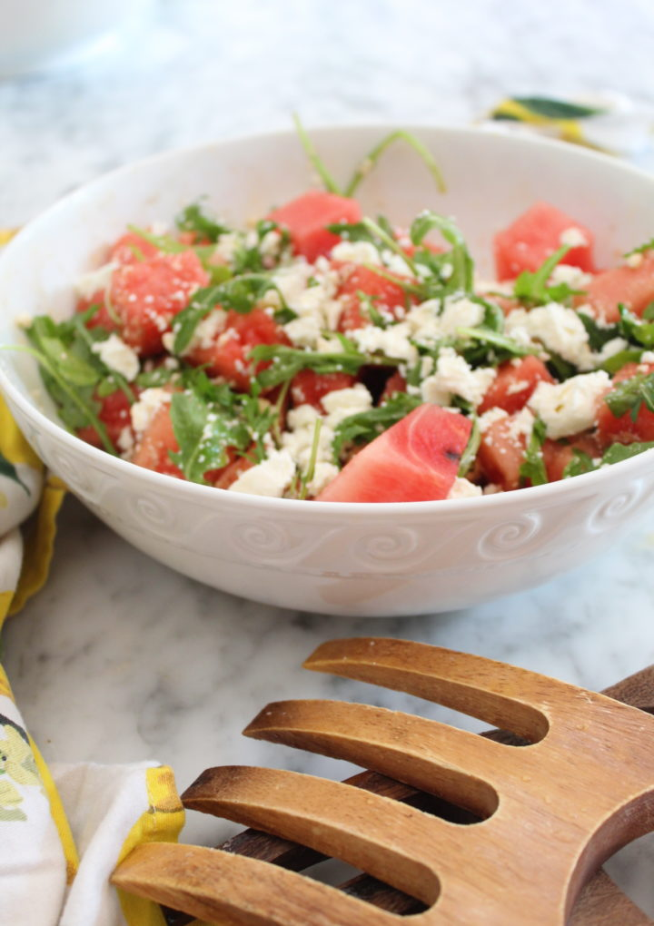 Watermelon Feta Salad with Arugula