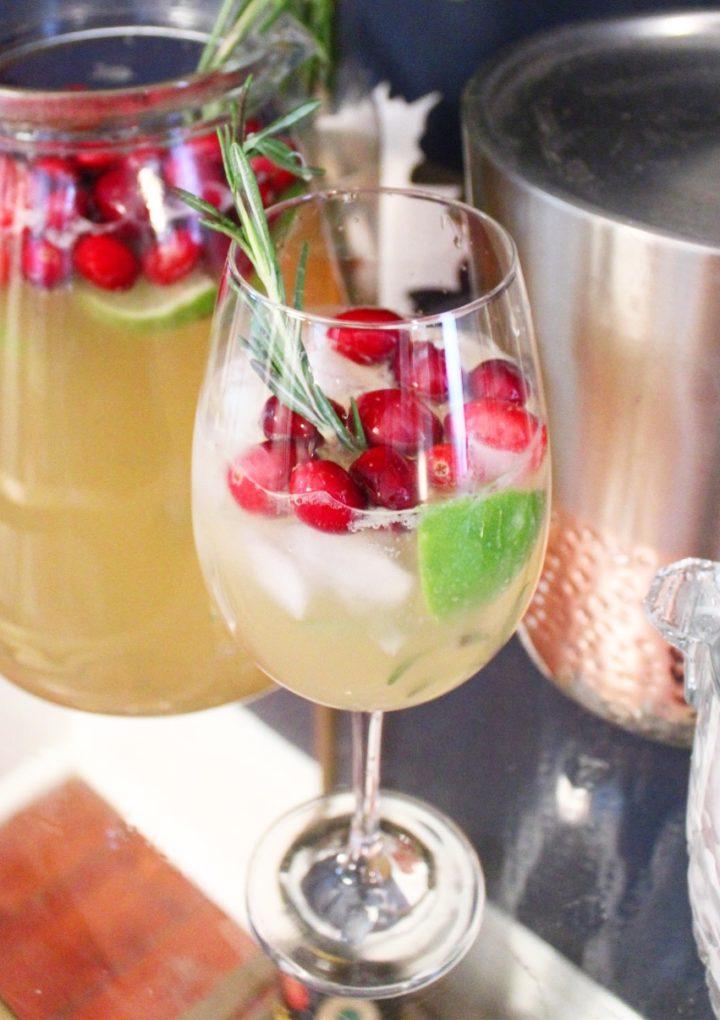 Christmas Rum Mule Cocktail