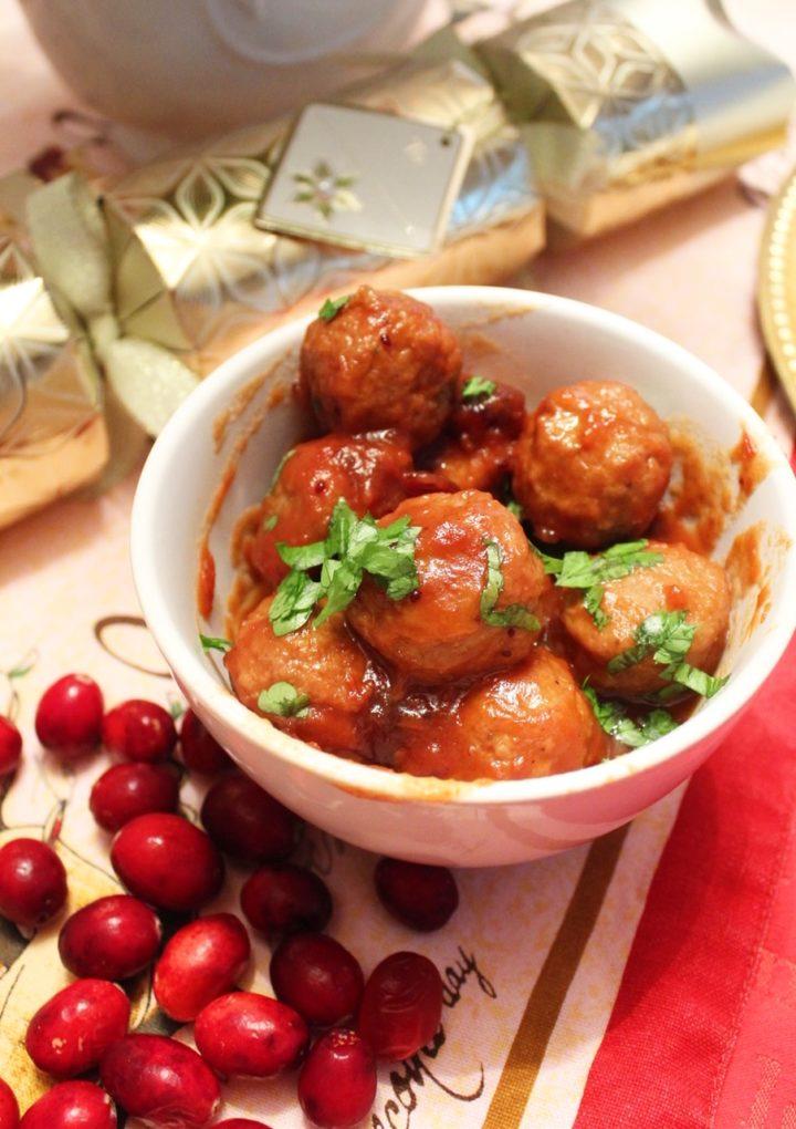 Easy Cranberry Meatballs