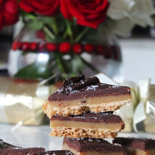 Caramel Shortbread with Chocolate