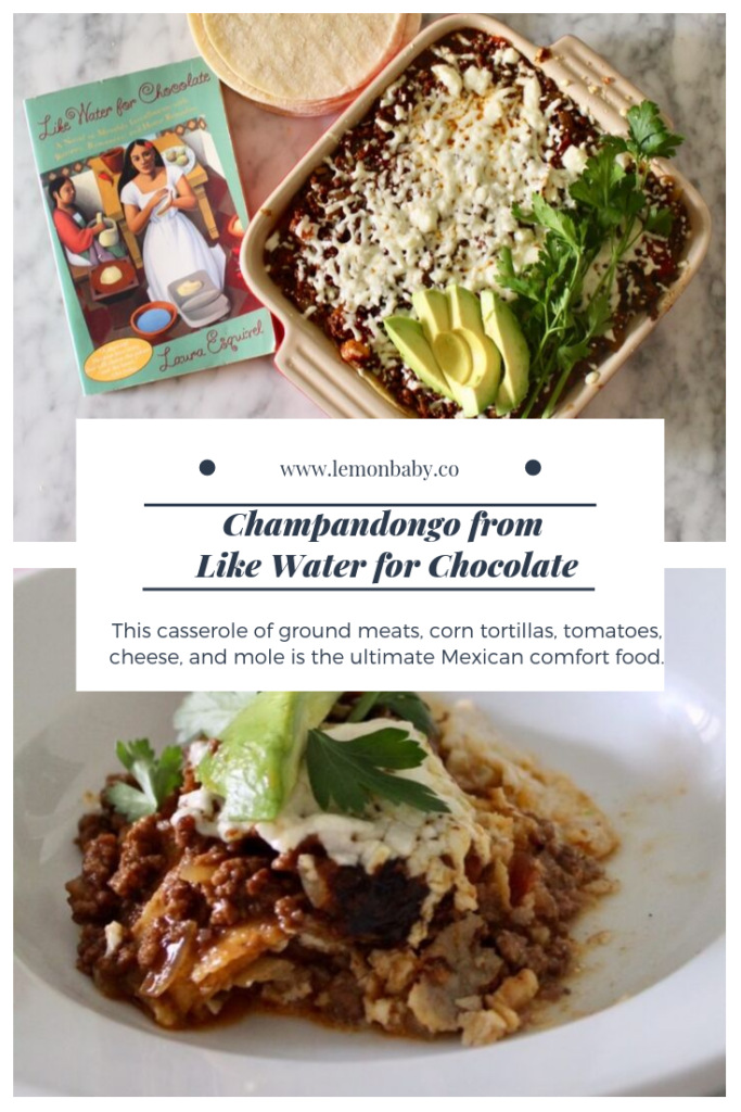 Champandongo from Like Water For Chocolate Pinterest Pin