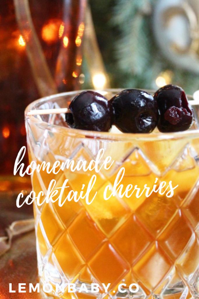 Pinterest pin for Cocktail Cherries